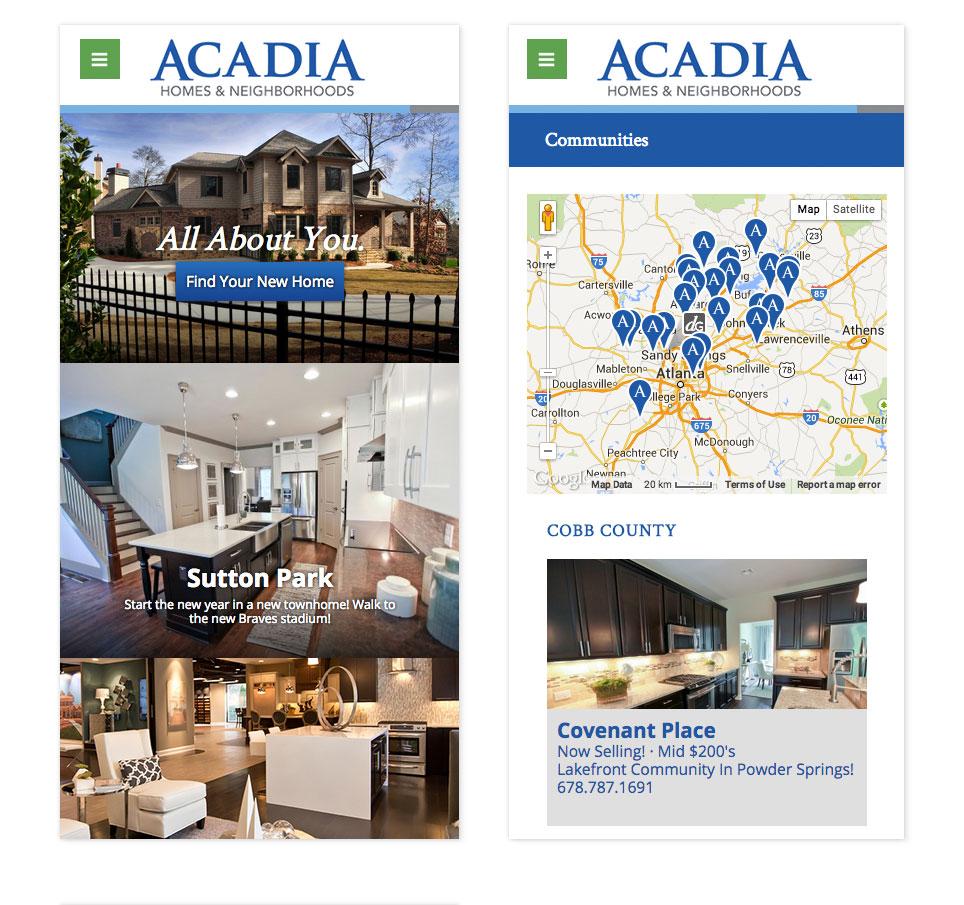 Acadia Homes Website Nick Mracek