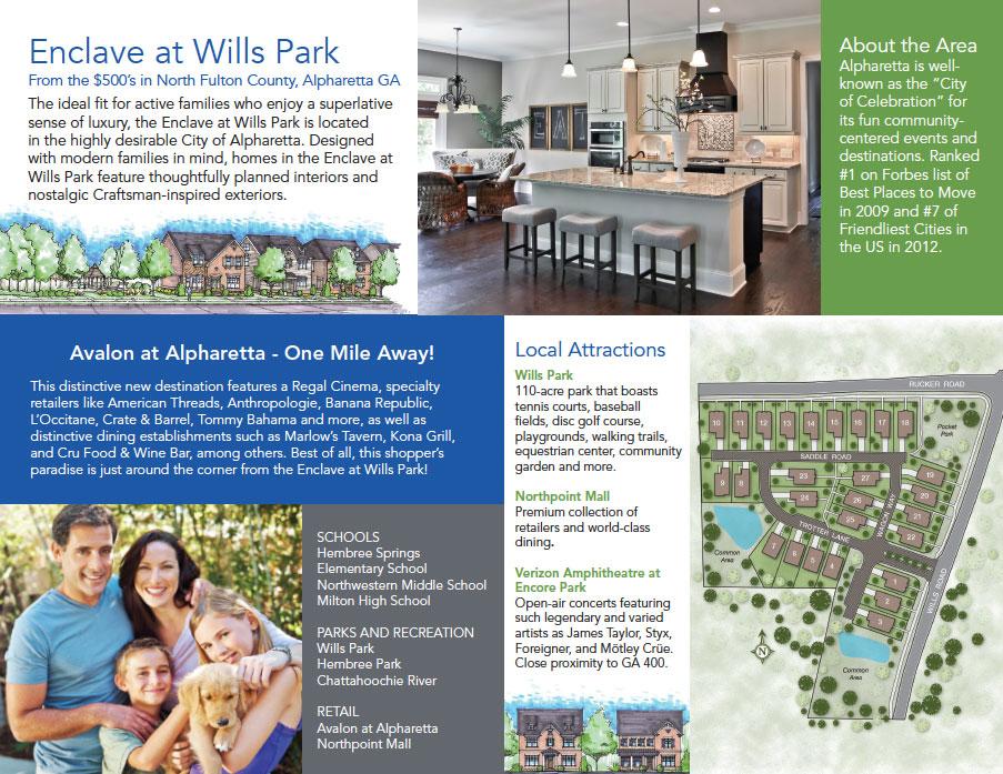 Acadia Enclave At Wills Park Bifold Brochure Nick Mracek